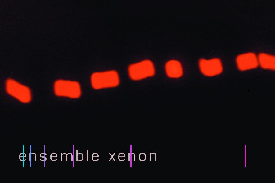 ensemble xenon hör-stück Konzert 9.Juni Karte S.1